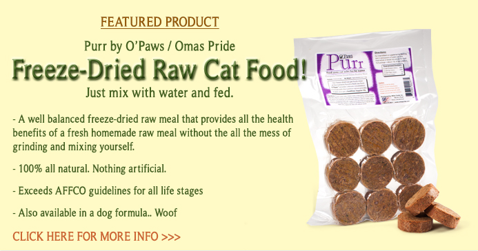 Freeze-Dried Raw Cat Food by Opaw's Oma's Pride