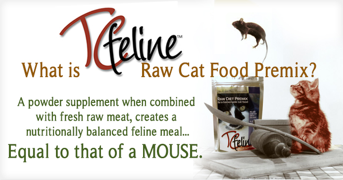What is TcFeline Premix - a quick, easy and affordable way to make your own Homemade Raw Cat Food
